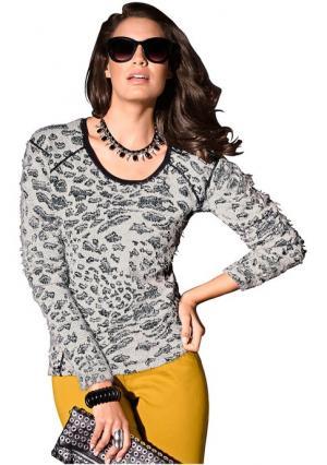 Пуловер Maria Bellesi. Цвет: серый/бежевый