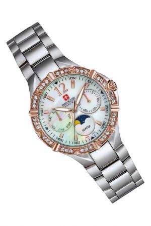 Наручные часы Swiss military. Цвет: sky blue and silver