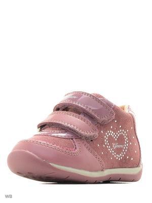 Кроссовки GEOX. Цвет: бледно-розовый, розовый