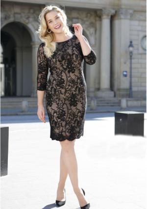 Платье MY STYLE. Цвет: черный/бежевый