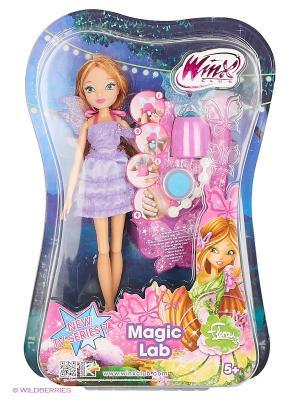 Кукла Winx Club Магическая лаборатория Flora. Цвет: фиолетовый