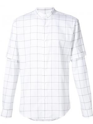 Двухслойная рубашка Public School. Цвет: белый