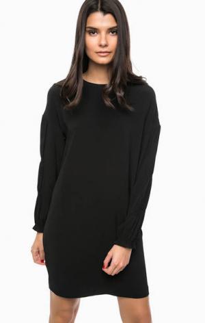 Короткое черное платье на молнии Pinko. Цвет: черный