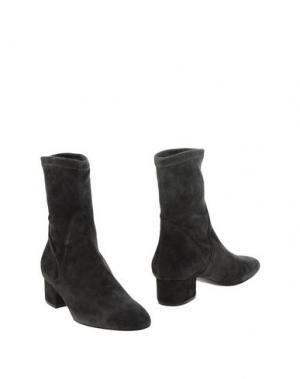 Полусапоги и высокие ботинки NATAN. Цвет: стальной серый
