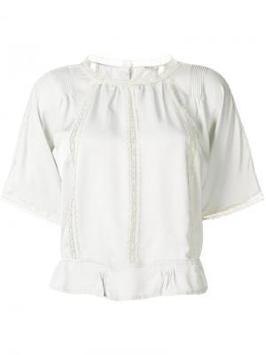 Блузка с кружевом Bellerose. Цвет: телесный