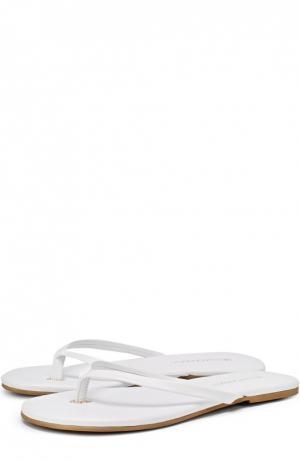 Кожаные пляжные шлепанцы Melissa Odabash. Цвет: белый