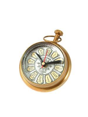 Часы настольные Русские подарки. Цвет: золотистый, серый