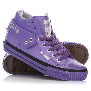 Кеды кроссовки высокие женские  Roco Purple/Light Grey/Purple British Knights. Цвет: фиолетовый