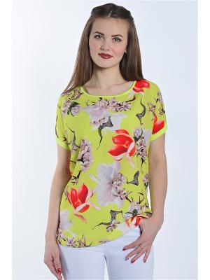 Блузка RISE. Цвет: желтый