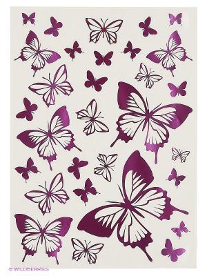 Розовые бабочки DECORETTO. Цвет: розовый