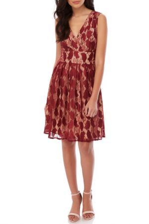 Платье YUMI. Цвет: bordeaux