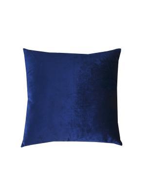 Подушка бархат сапфировый 45х45 см. T&I. Цвет: синий