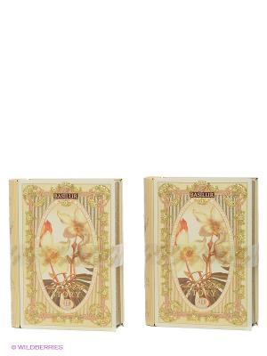 Чайный набор Чайная книга. История Любви. Том 3 Basilur. Цвет: зеленый, кремовый