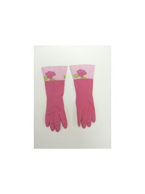 Перчатки латексные Magic Home. Цвет: розовый