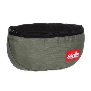 Сумка поясная  Small Patch Bag Khaki/Black Skills. Цвет: черный,зеленый