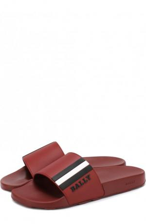 Резиновые шлепанцы с логотипом бренда Bally. Цвет: бордовый
