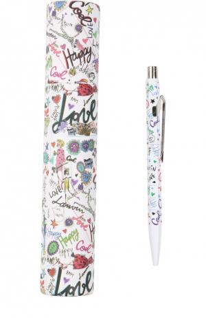 Ручка шариковая Tag Print Lanvin. Цвет: разноцветный