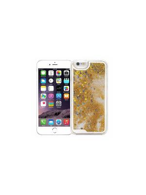 Чехол для iPhone 6/6s Liquid Stars (золотой) Kawaii Factory. Цвет: золотистый