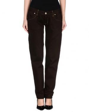 Повседневные брюки FLY GIRL. Цвет: темно-коричневый