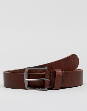 Esprit Кожаный ремень для джинсов. Цвет: коричневый
