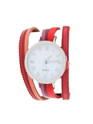 Браслет-часы Olere. Цвет: серебристый, бордовый, красный