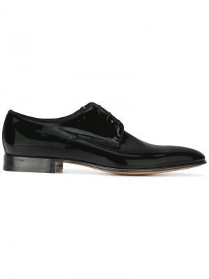 Ботинки Дерби Linz Moreschi. Цвет: чёрный