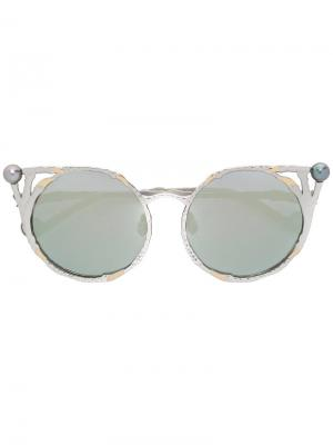 Солнцезащитные очки  Claw & Pearl Anna Karin Karlsson. Цвет: металлический