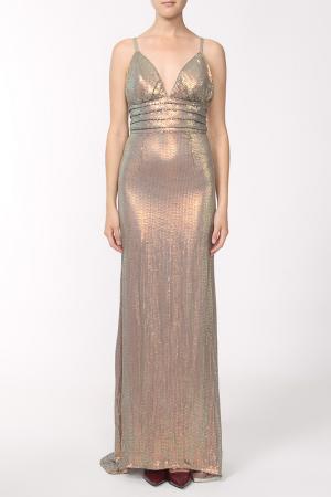 Платье Dina Bar-El. Цвет: золотой