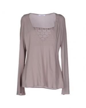 Блузка CRISTINAEFFE. Цвет: светло-коричневый