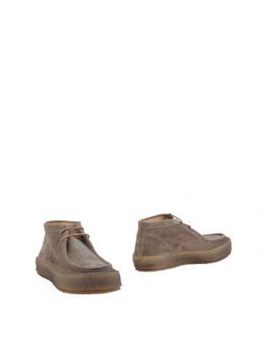 Полусапоги и высокие ботинки PANTOFOLA D'ORO. Цвет: свинцово-серый