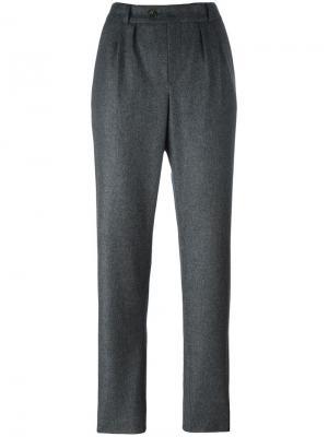 Строгие брюки со складками A.P.C.. Цвет: серый