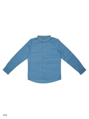 Рубашка United Colors of Benetton. Цвет: синий, лазурный
