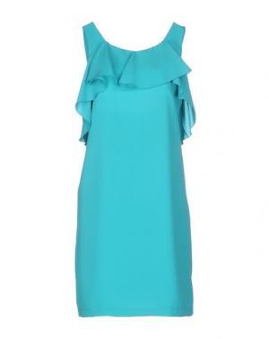 Короткое платье MRESALE. Цвет: бирюзовый