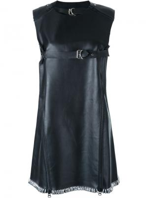 Платье без рукавов с ремешками KTZ. Цвет: чёрный