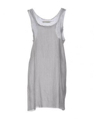 Короткое платье UN-NAMABLE. Цвет: серый