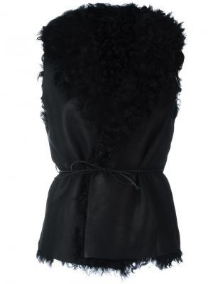 Fur trim waistcoat Salvatore Santoro. Цвет: чёрный