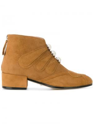 Ботинки Victoire Paula Cademartori. Цвет: коричневый
