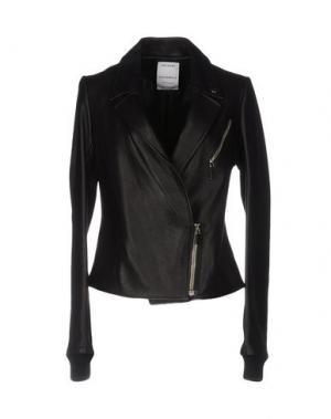 Куртка ANTHONY VACCARELLO. Цвет: черный