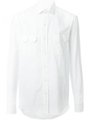 Рубашка с накладным карманом Salvatore Piccolo. Цвет: белый