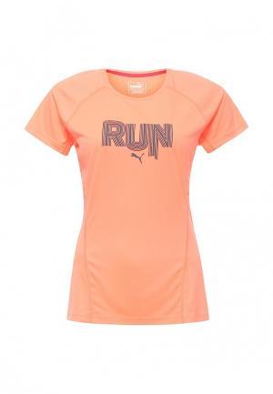 Футболка спортивная Puma. Цвет: оранжевый