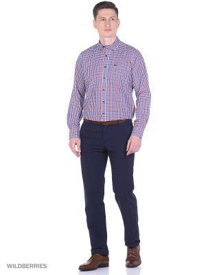 Рубашка Boston Brothers. Цвет: синий, темно-серый, красный, белый