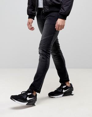Loyalty & Faith Зауженные байкерские джинсы and Hayden. Цвет: черный