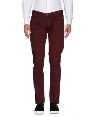 Повседневные брюки 2 MEN. Цвет: красно-коричневый