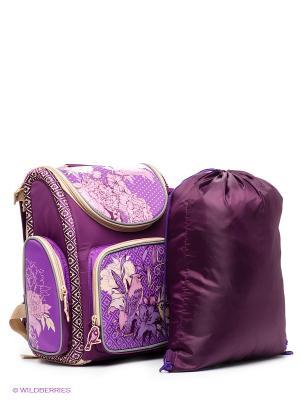 Рюкзак Grizzly. Цвет: фиолетовый, бежевый