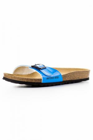 Пантолеты Antonio Miro. Цвет: синий