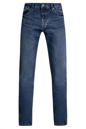 Брюки oodji. Цвет: синий, джинса