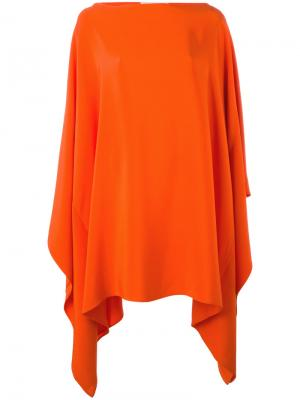 Драпированное платье Gianluca Capannolo. Цвет: жёлтый и оранжевый