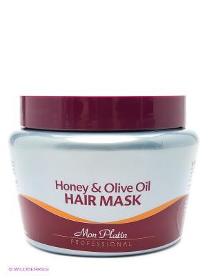 Маска для волос на основе оливкового масла и меда, 500мл Mon Platin DSM. Цвет: бордовый
