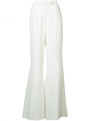 Удлиненные расклешенные брюки Elie Saab. Цвет: белый