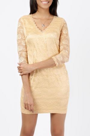 Платье LESARA. Цвет: золотой